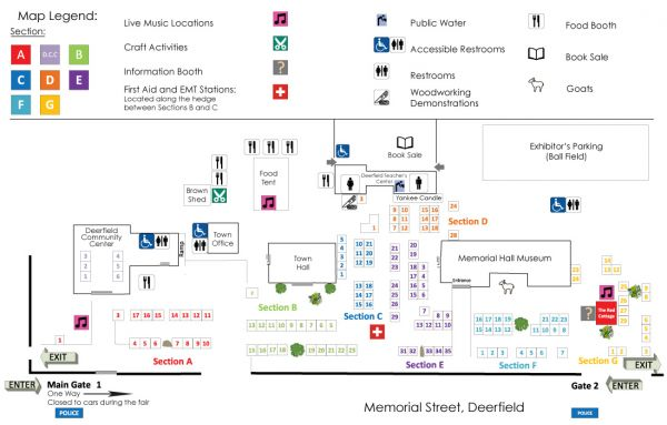 Old Deerfield Craft Fairs Online And Printable Fall Festival Maps - Old maps for sale online
